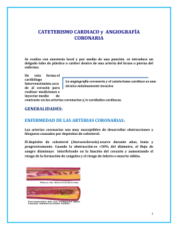 CATETERISMO INTRODUCCION A LA HEMODINAMIA