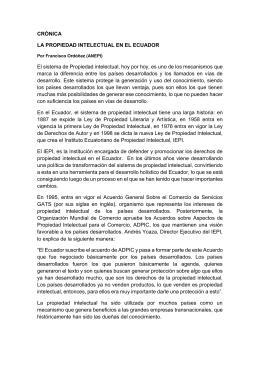 propiedad intelectual en el Ecuador