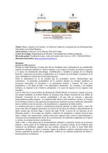 2b57bf892b Título: Obras y reparos en el molino. La Orden de Calatrava y la