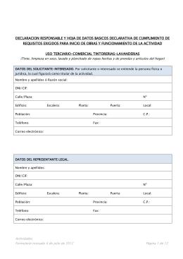 Uso Terciario Lavanderias y Tintorerias