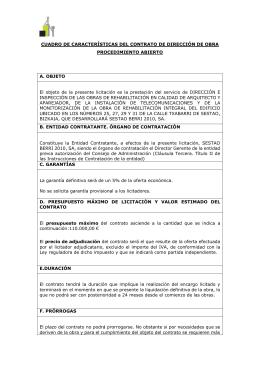 Caratula de contratación Dirección de Obra Tx 25 a