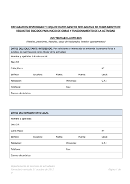 Uso Terciario (hotelero) - Licencia Apertura Actividad . info