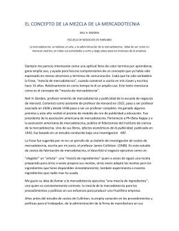 EL CONCEPTO DE LA MEZCLA DE LA MERCADOTECNIA NEIL H