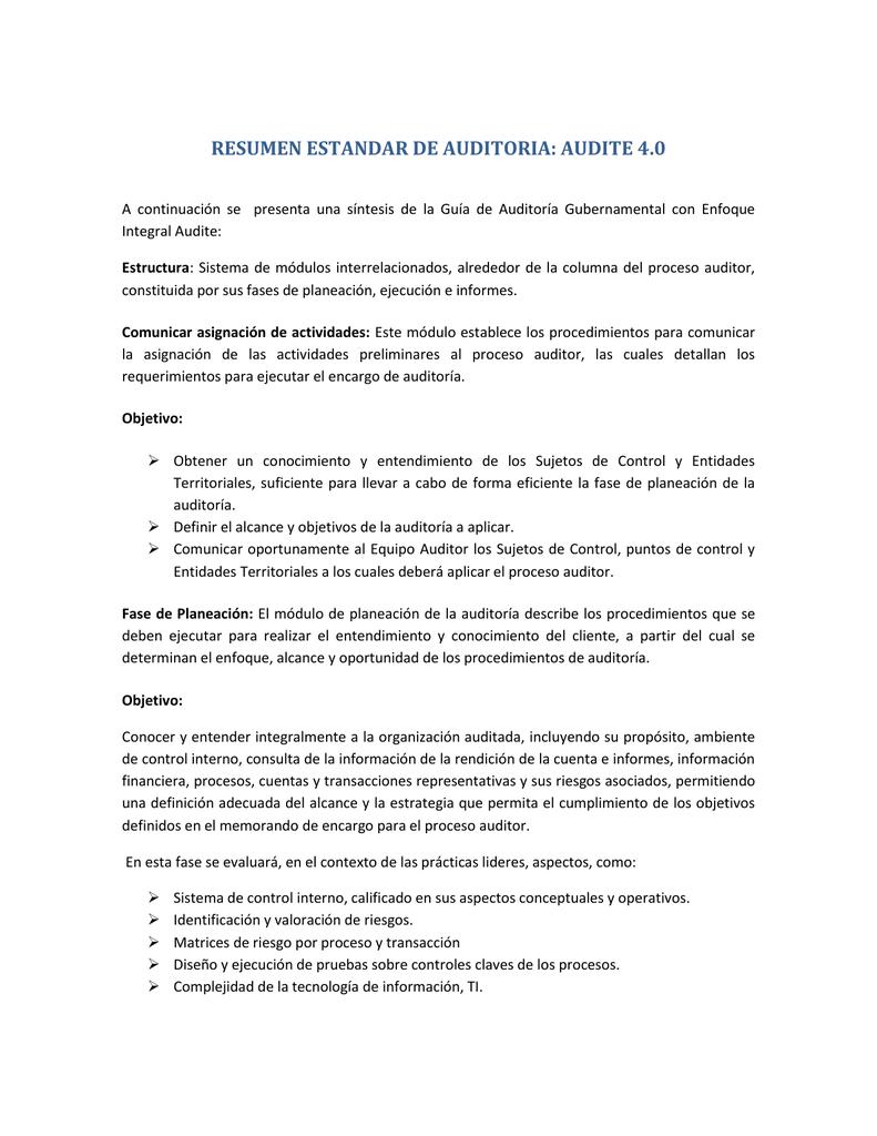 Normas De Auditoria Gubernamental Colombianas