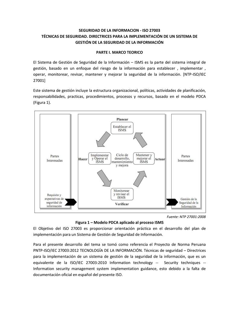 SEGURIDAD DE LA INFORMACION ISO 27003 v2