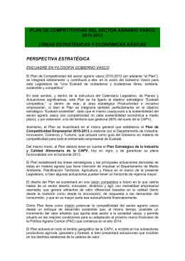 PLAN DE COMPETITIVIDAD DEL SECTOR AGRARIO VASCO 2010