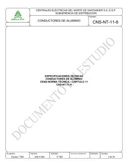 CNS-NT-11-10 Conductores aluminio