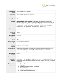 """MARKETING-PETROLERO"". - Programa de Becas"