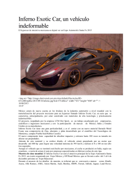 Inferno Exotic Car, un vehículo indeformable El hypercar de