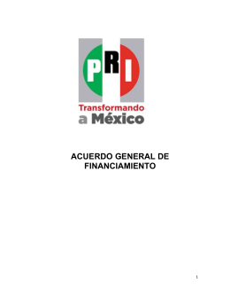 Acuerdo General de Financiamiento