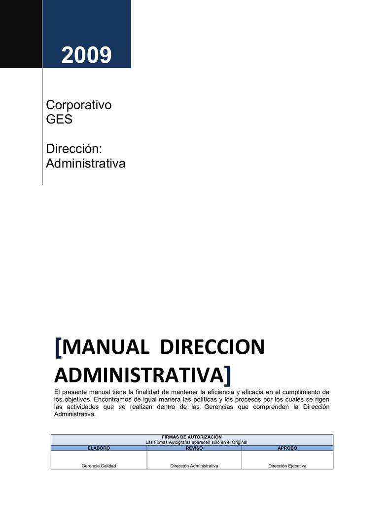 Manual Direccion Administrativa - Distintivo Empresa Socialmente