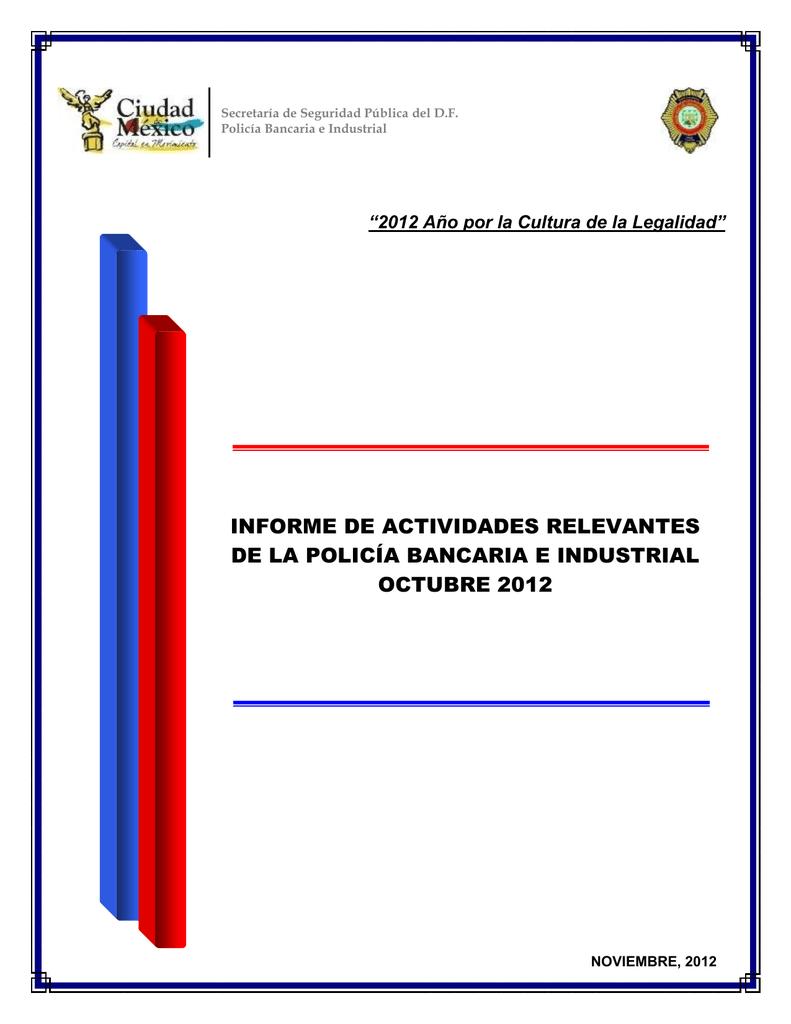 Informe De Actividades Relevantes De La Policía