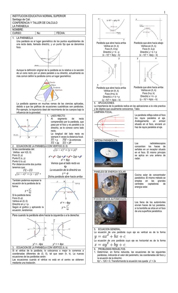 Conferencia Parabola