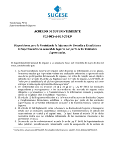 Disposiciones remisión información contable y estadística