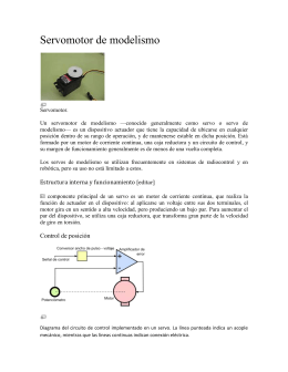 Un servomotor de modelismo —conocido generalmente