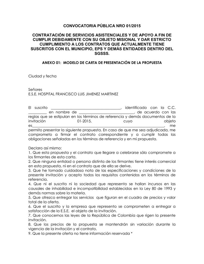 anexo 01 carta de presentacion de la propuesta