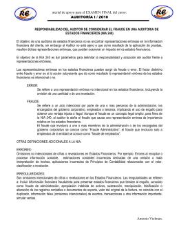 AUDITORIA I Fraude (FINAL) 2010