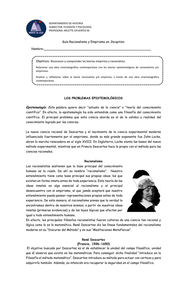 7595bdafa0ec DEPARTAMENTO DE HISTORIA SUBSECTOR: FILOSOFÍA Y