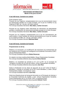 OFICINA DE PRENSA GRUPO PARLAMENTARIO SOCIALISTA