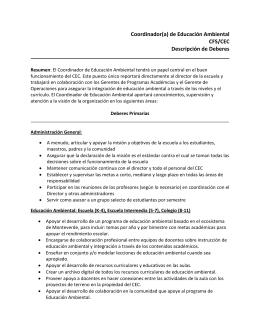 Coordinador(a) - Cloud Forest School