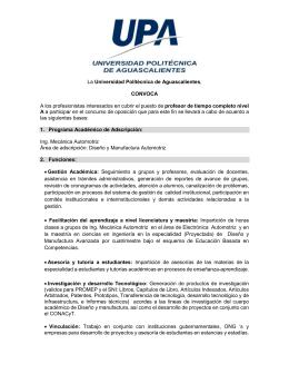 IMA A.1 2.0 - Universidad Politécnica de Aguascalientes