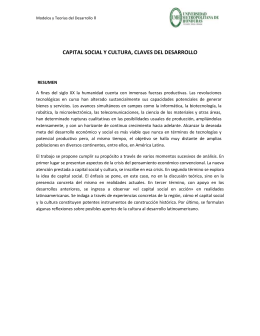capital social y cultura, claves del desarrollo