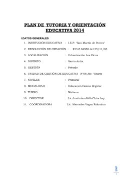 plan de tutoria y orientación educativa 2014