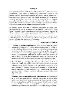 Editorial - Centro de Estudios de Derecho de la Competencia
