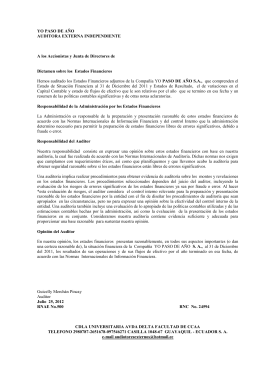 dictamen de auditor