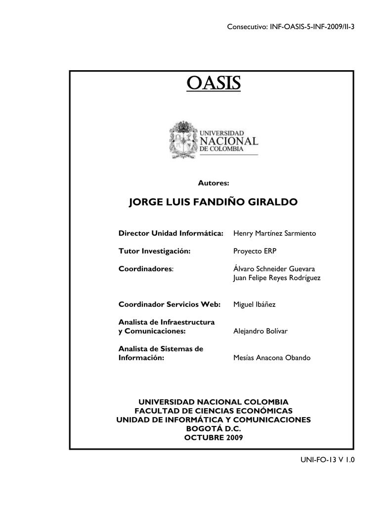 Oasis Jorge Luis Fandiño Giraldo