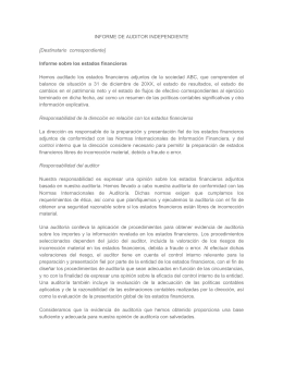informe de auditoria independiente con s- p 1055