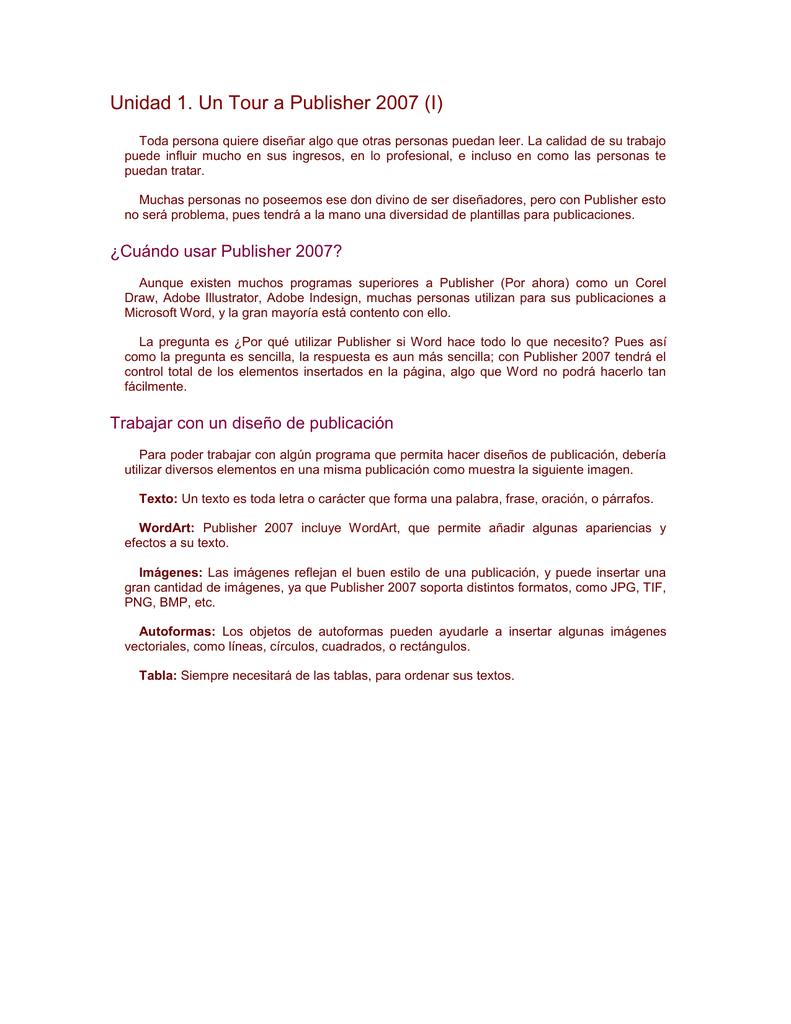 Iniciando Publisher 2007