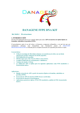 danagene ffpe dna kit