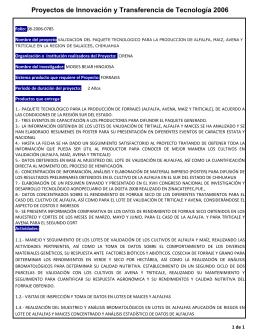 validación del paquete tecnológico para la producción de alfalfa