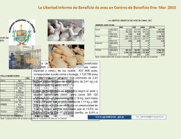 informe beneficio de aves ENE_FEB_2015