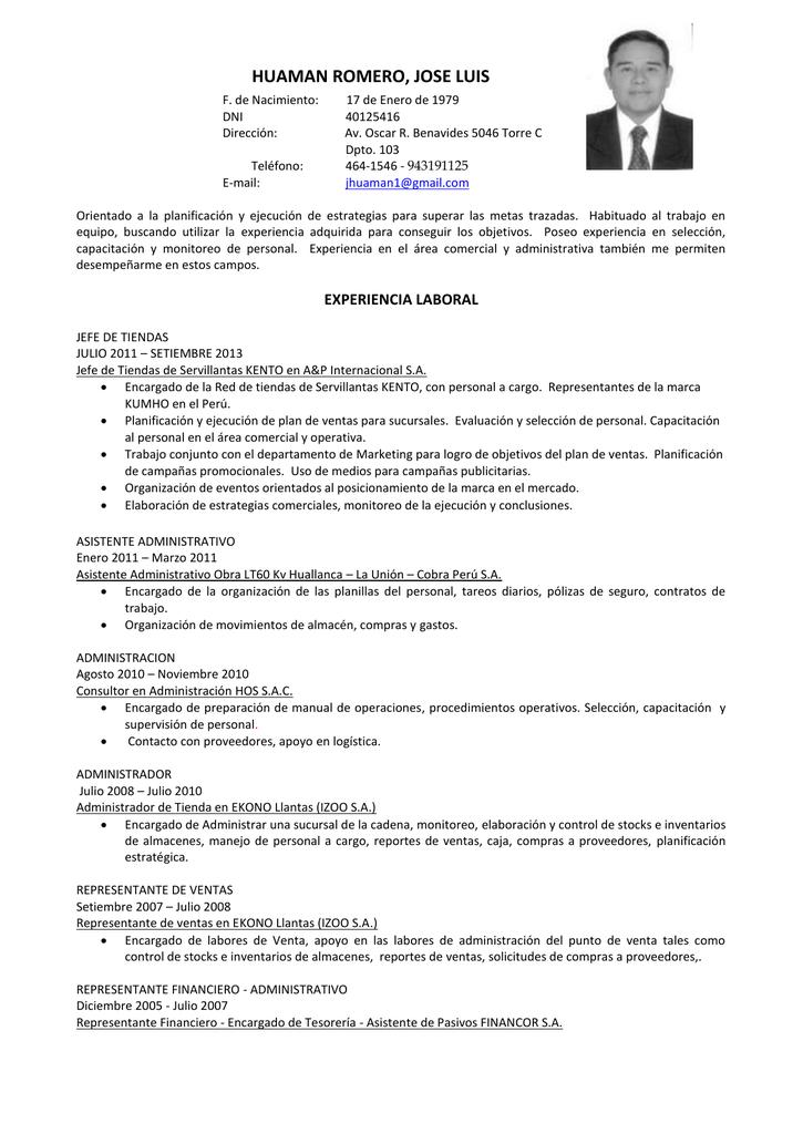 experiencia laboral - Anuncio-Perú