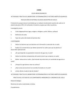 CIERRE CICLOS BIOGEOQUIMICOS ACTIVIDADES: PRACTICA