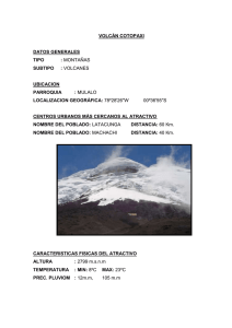 VOLCÁN COTOPAXI  DATOS GENERALES TIPO