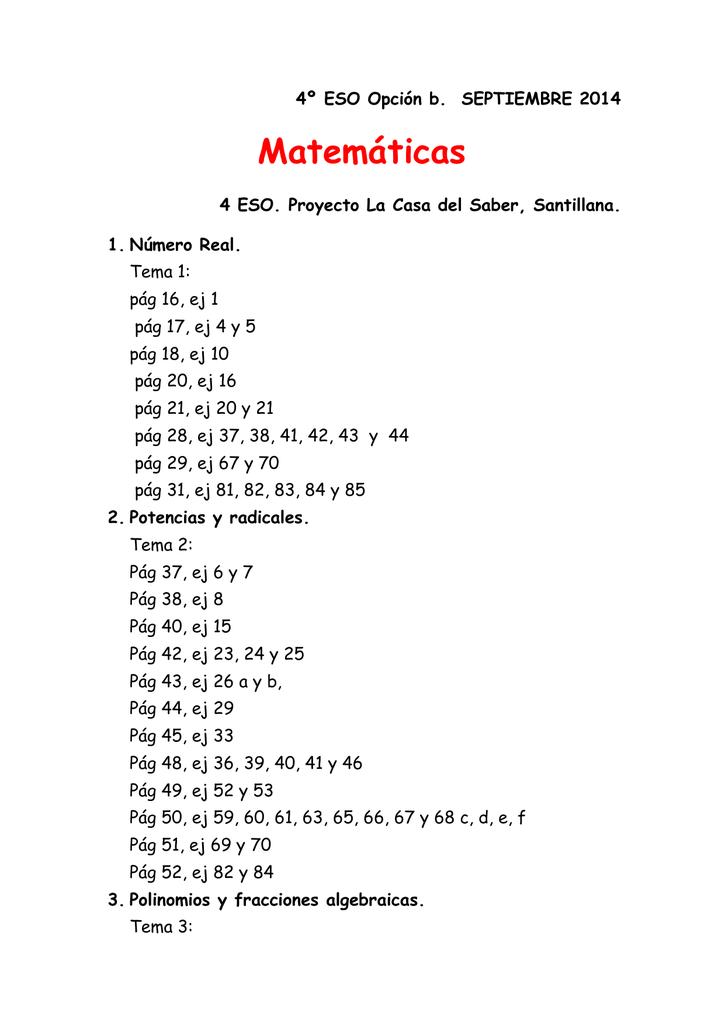 matemáticas -a 4º eso - Gobierno de Canarias