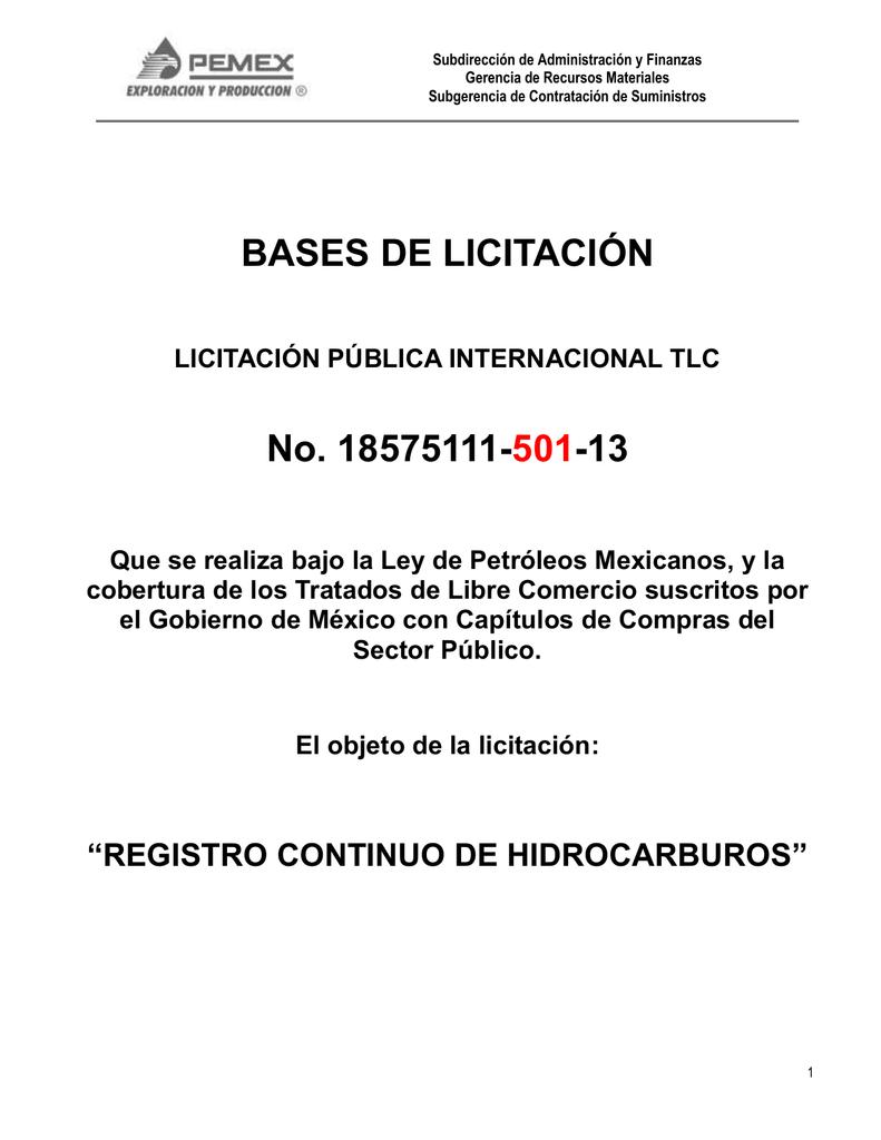 BASES 501 RCH - PEMEX Exploración y Producción PEP