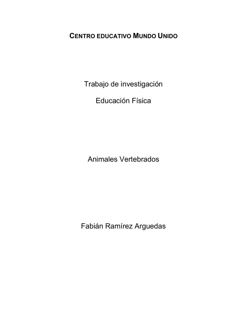 trabajo de investigacion -vertebrados