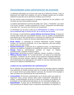 Generalidades sobre administración de empresas