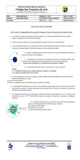 1 El Movimiento Circular Uniforme Mcu
