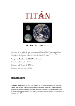 Titán - The origin of life