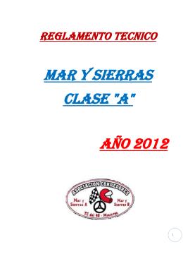 """reglamento tecnico mar y sierras clase """"a"""" año 2012 - Fuerza"""