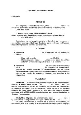 Contrato arrendamiento de vivienda cafmadrid for Modelo contrato alquiler vivienda sencillo