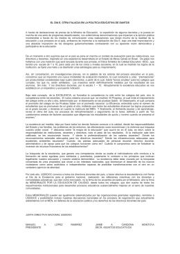 EL DIA E, OTRA FALACIA EN LA POLITICA EDUCATIVA DE...  A  través  de  declaraciones  de ...