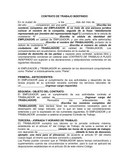Modelo de contrato indefinido pdf for Modelo contrato indefinido