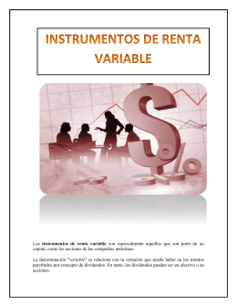 Los instrumentos de renta variable