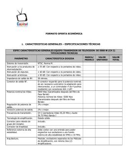 Formato Oferta Económica Concurso Publico No. 06